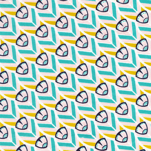 Of a Feather | Ivory :: Tsuru by Rashida Coleman-Hale for Cloud9 Fabrics