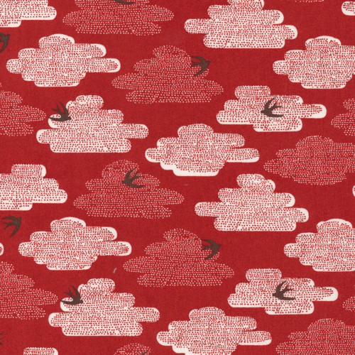 Free As A Bird | Dark Red :: Up, Up & Away by Skinny laMinx for Cloud9 Fabrics
