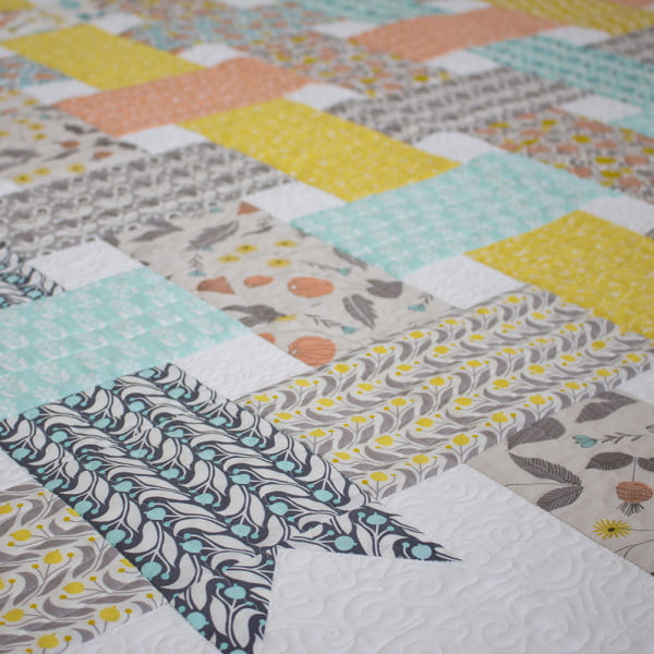 Ribbon Box Quilt Closeup