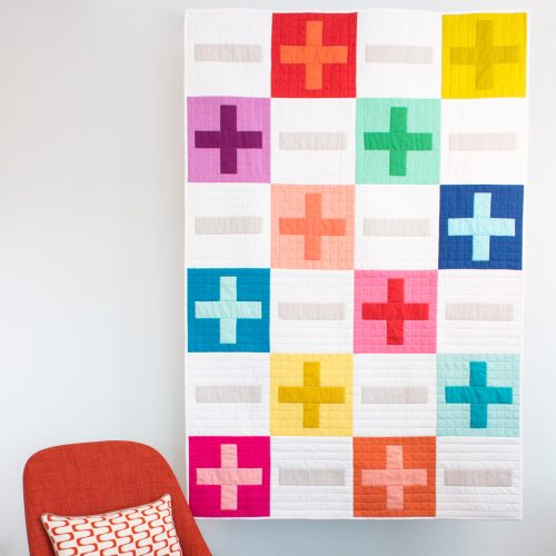"""Plus and Minus"" a Free Row Quilt Pattern designed by Michelle Engel Bencsko from Cloud 9 Fabrics"